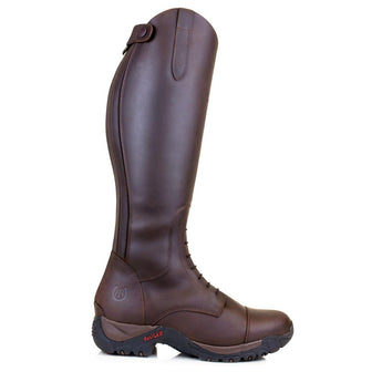 Bareback Footwear Unisex Nebraska Brown Nubuck Leather Long Riding/Yard Boots. High performance, quality equestrian footwear, shop online or buy in the knightsbrand rookley isle of wight UK store.