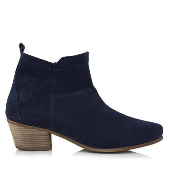 Bareback Lady's Roxy Navy Heeled Ankle Boot High performance, quality, country style footwear, shop online or buy in the knighstbrand, rookley UK store