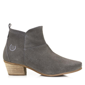 Bareback Lady's Roxy Grey Heeled Ankle Boot High performance, quality country style footwear, shop online, or buy in the knightsbrand, Rookley, isle of wight, UK store