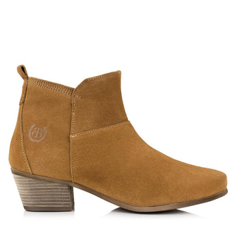 Bareback Lady's Roxy Sand Suede Heeled Ankle Boot High performance, quality country style footwear, shop online or buy in the knightsbrand rookley isle of wight UK store
