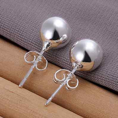 925 Sterling Sliver Pearl 8mm Ball Butterfly Stud Jewellery Earrings Ladies Uk