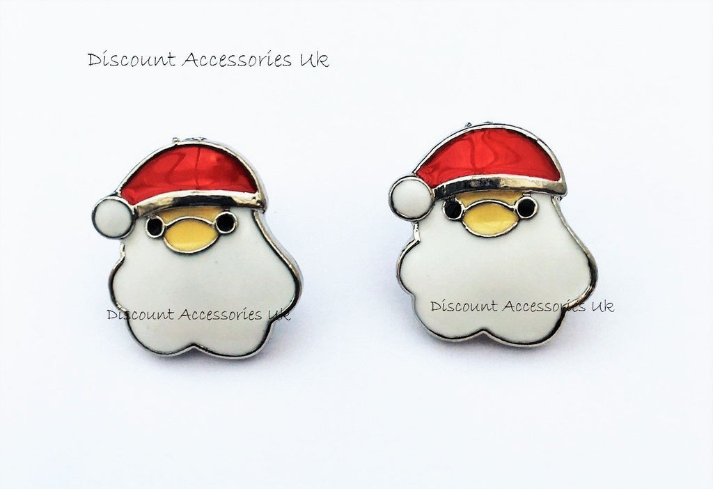 Father Christmas Santa Xmas Earrings Gift Girls Ladies Stud Party Secret Uk p&p