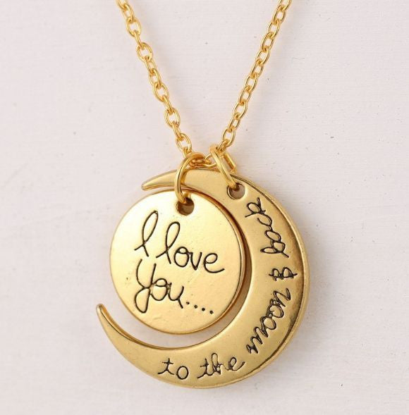 'I Love you to the moon and back'Pendant Necklace Chain