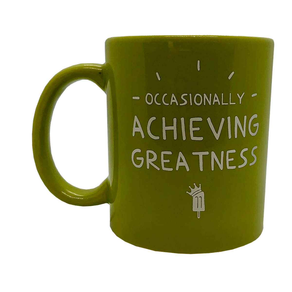 King of Pops Green Mug - 'Occasionally Achieving Greatness'