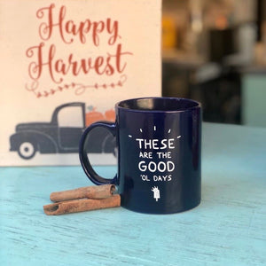 King of Pops Blue Mug - 'These are the good ol days'