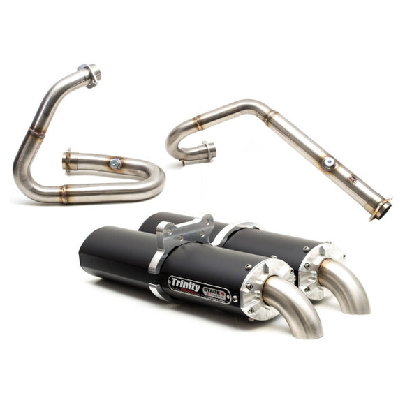 TRINITY RACING FULL DUAL EXHAUST SYSTEM - WILDCAT 1000/X/4