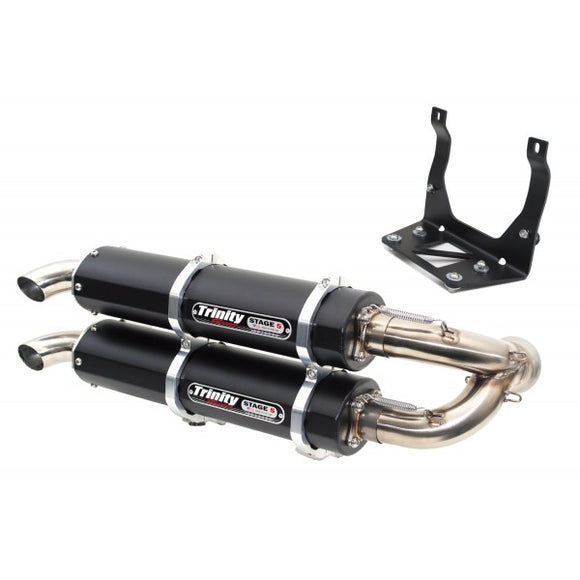 TRINITY RACING DUAL SLIP-ON EXHAUST SYSTEM - MAVERICK X3