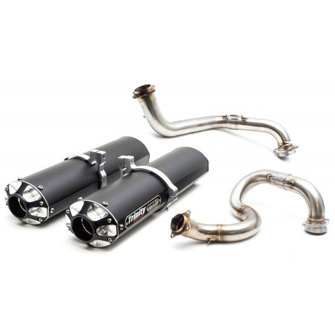 TRINITY RACING DUAL 3/4 EXHAUST SYSTEM - MAVERICK MAX