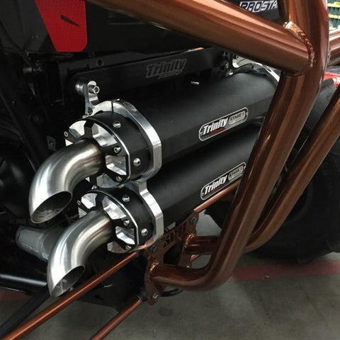 TRINITY RACING STAGE-5 FULL DUAL EXHAUST SYSTEM - RZR XP900