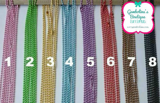 Coloured Ball Chain Necklaces