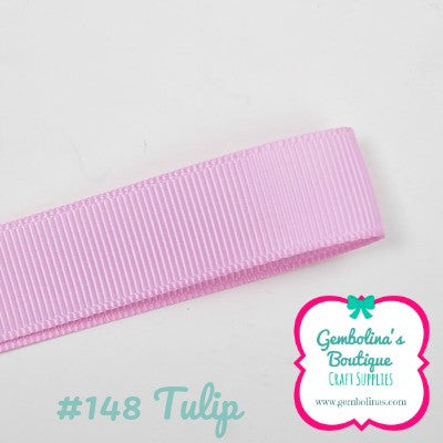 #148 Tulip Solid Colour Plain Grosgrain Ribbon Bow Making Gembolina's Crafts