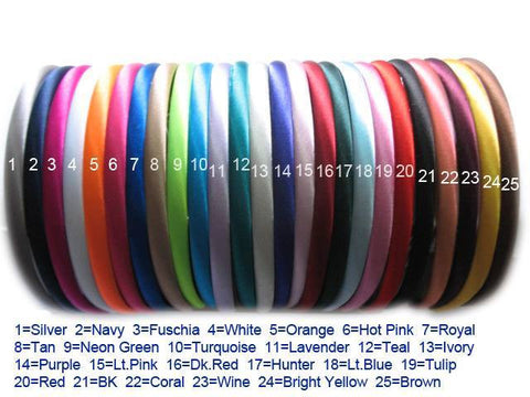 10mm Satin Plain Colour Headbands Bow Making Gembolina's Craft Supplies