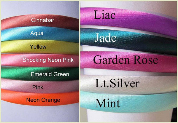 10mm Satin Headbands