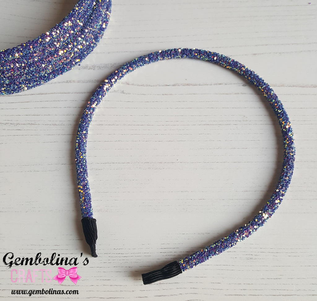 Glitter Headband ~ Purple Blue