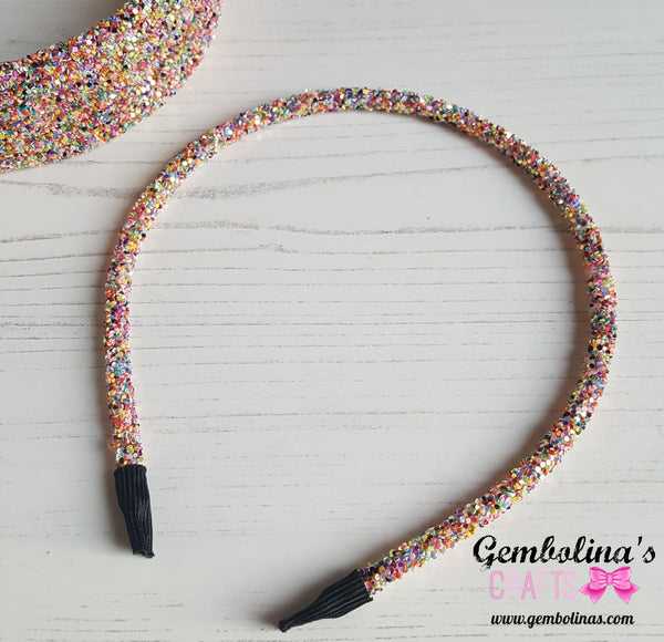 Glitter Headband ~ Disco Mix