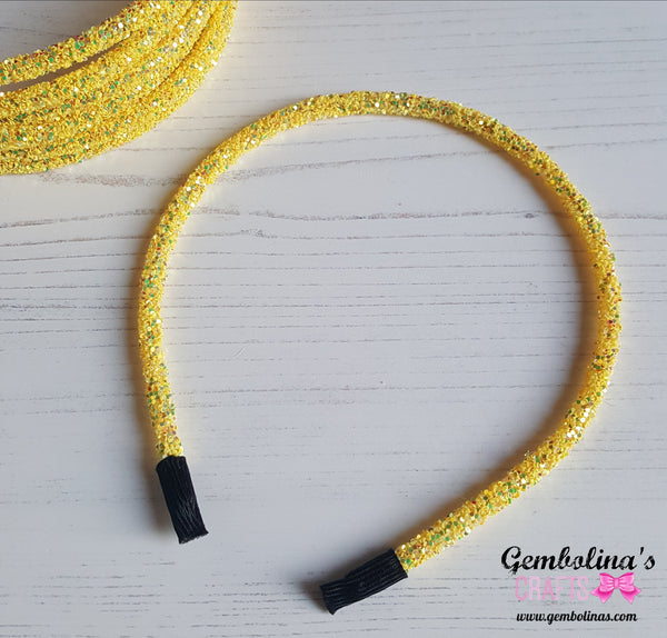 Glitter Headband ~ Yellow