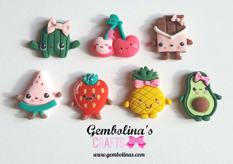 Cute Fruits Embellishments