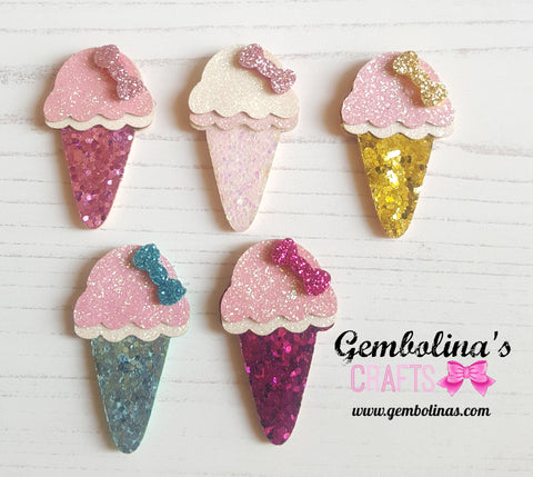 Mini Layered Glitter Ice Cream