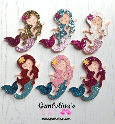 Glitter Mermaid Applique
