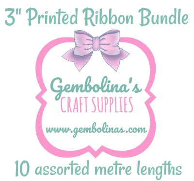 "3"" 75mm Printed Ribbon Bundle"