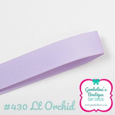 #430 Lt Orchid Lilac Solid Colour Plain Grosgrain Ribbon Bow Making Gembolina's Crafts