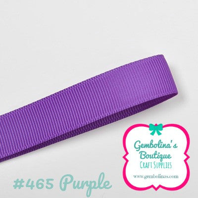 #465 Purple Solid Colour Plain Grosgrain Ribbon Bow Making Gembolina's Crafts