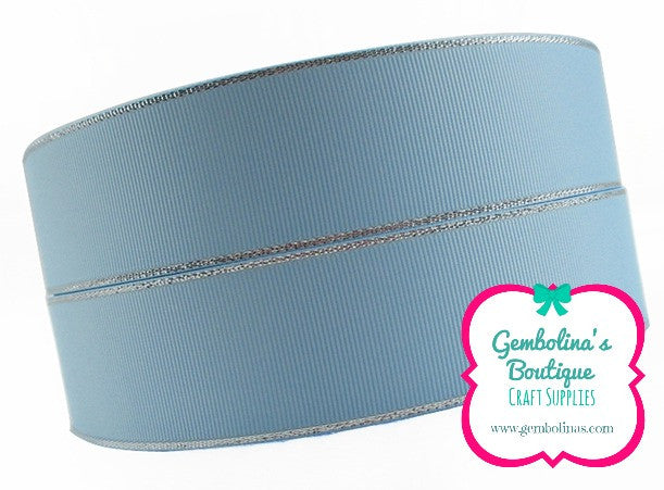 38mm Silver Lining - Light Blue