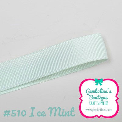 #510 Ice Mint Solid Colour Plain Grosgrain Ribbon Bow Making Gembolina's Crafts