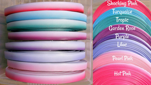 3/8 9mm Ombre Effect Printed Grosgrain Ribbon Gembolina's Crafts