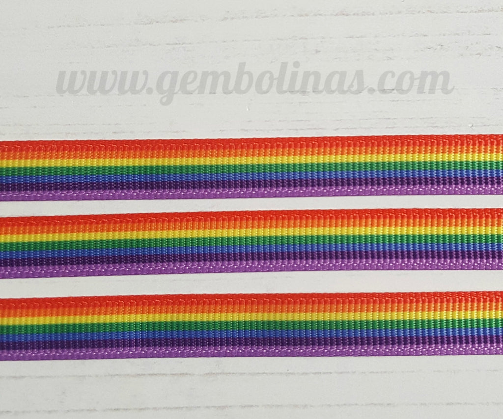 3/8 Rainbow Stripes