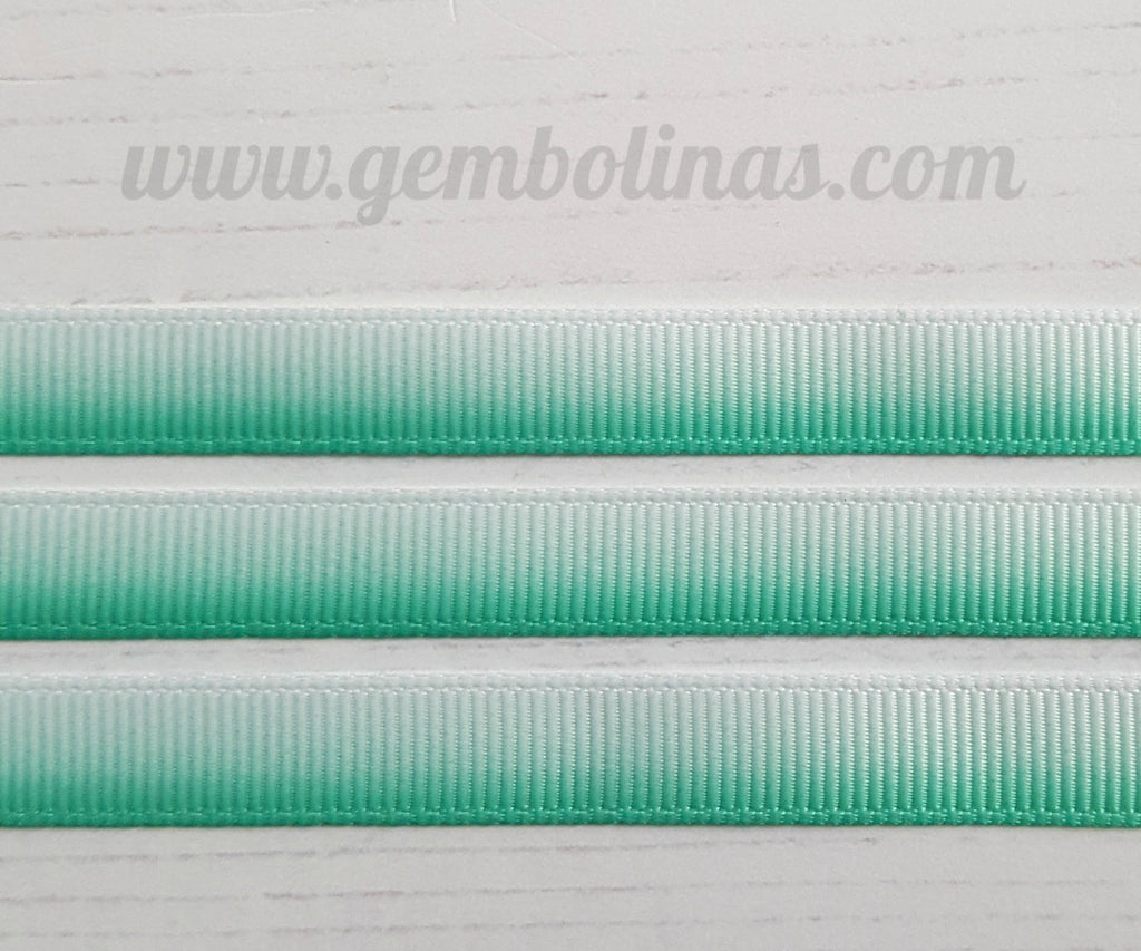 3/8 9mm Ombré Grosgrain Gradient Colour Change Ribbon Gembolina's Crafts