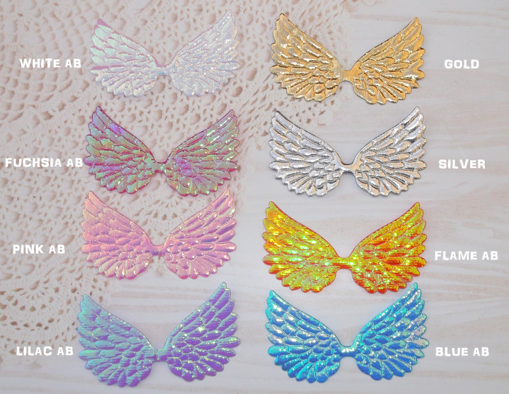 Irridescent & metallic coloured Wing appliques Gembolina's Angel Fairy Wings embellishments
