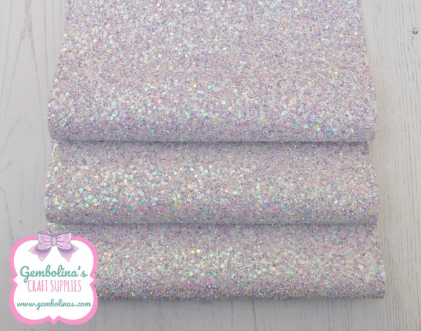 Unicorn Multi Mix Lilac White AB Chunky Glitter Fabric Bow Making Die Cutting A5 A4 Gembolina's Craft Supplies