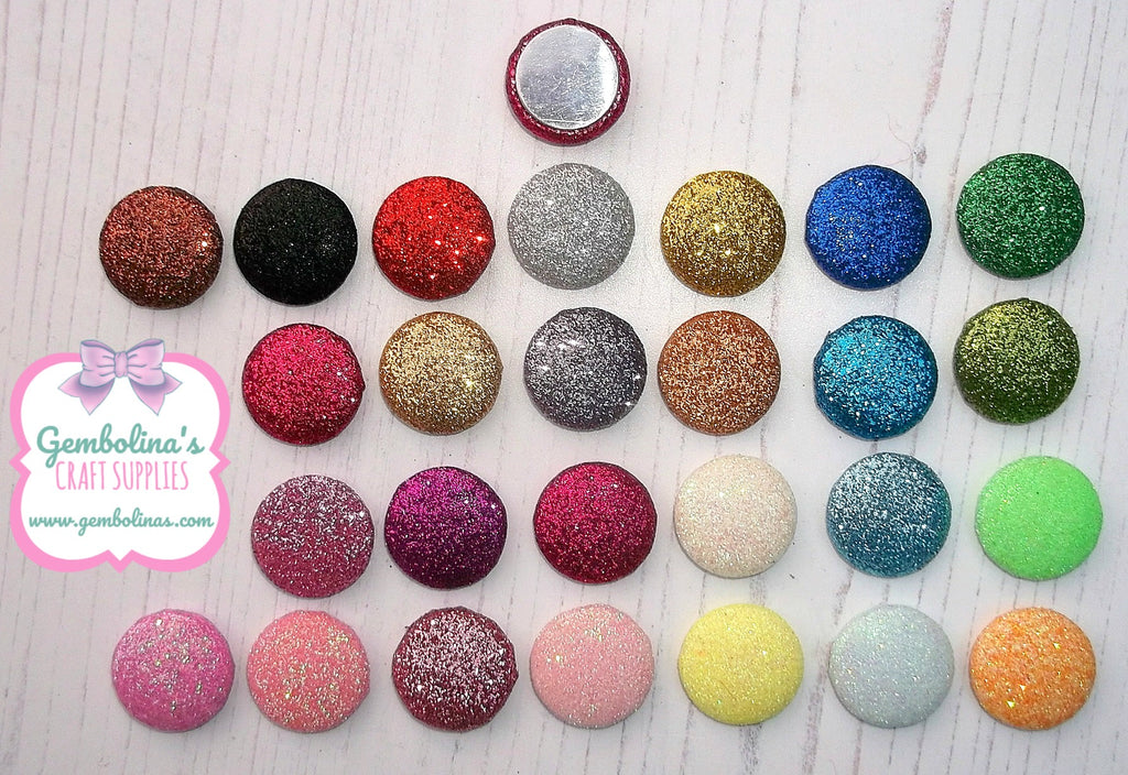 Glitter Button Flatbacks