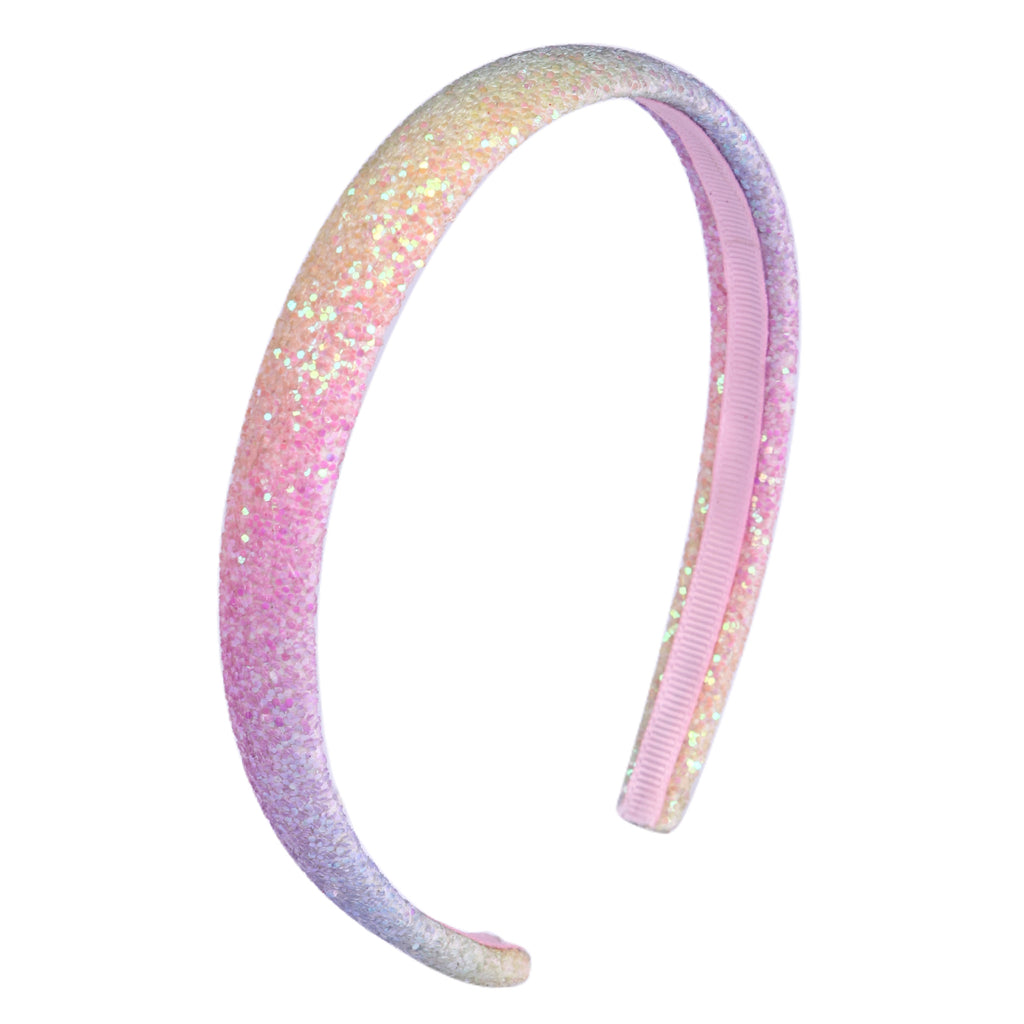 Pastel Glitter Covered Lined Headband Alice Band Gembolina's Crafts Hardware Bow Making Accessory Hair Accessories