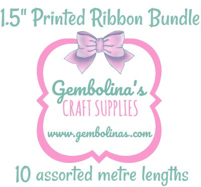 "1.5"" 38mm Printed Ribbon Bundle"