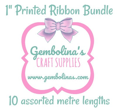 "1"" 25mm Printed Ribbon Bundle"
