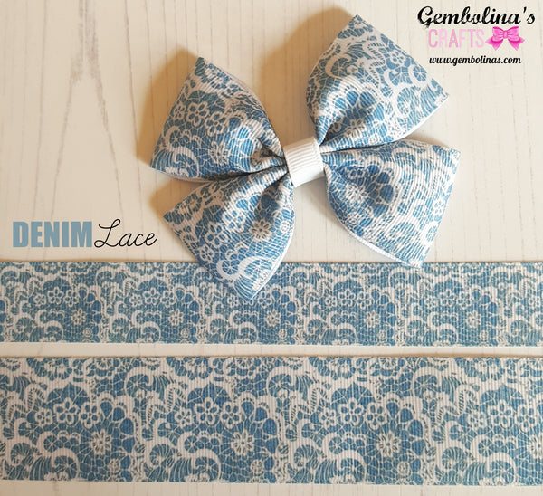"1"" Denim Lace"