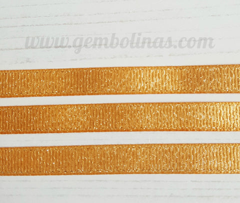3/8 9mm Gold Glitter Metallic Grosgrain Ribbon Bow Making Craft Supplies