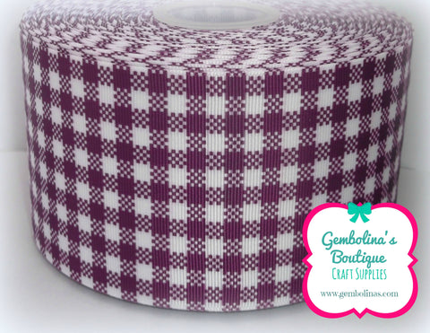 Gingham Grosgrain - Purple
