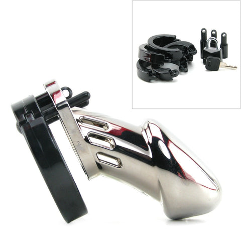 CB-6000 Male Chastity Device Chrome in 3 1/4 Inch