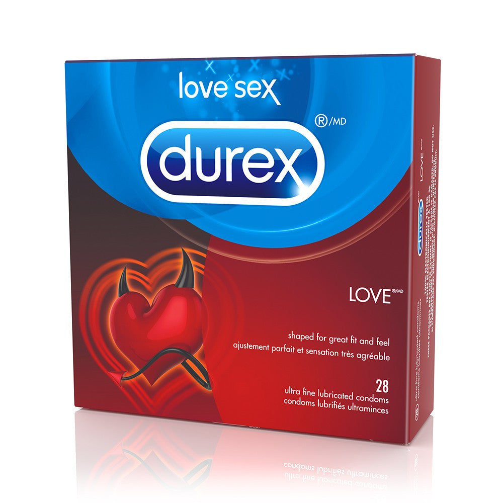 Love Lubricated Condoms in 28 Pack