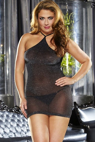 VIP Black Mini Mini Dress in OSXL