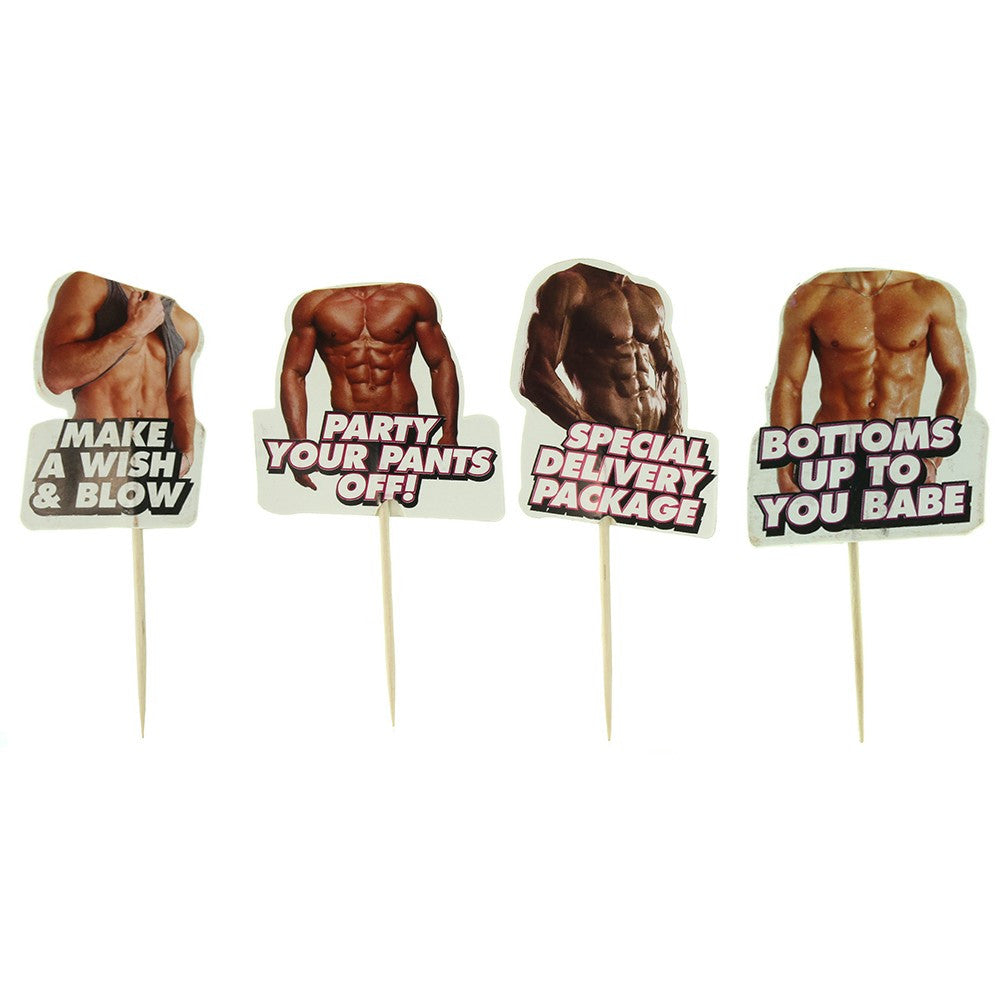 Hot Bod Party Toothpick Toppers