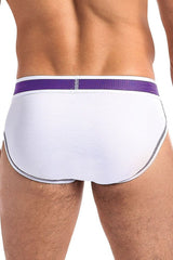Pure Energy White Sport Brief in XL