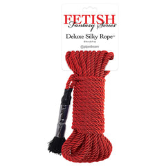 Fetish Fantasy Deluxe 32' Silky Rope in Red