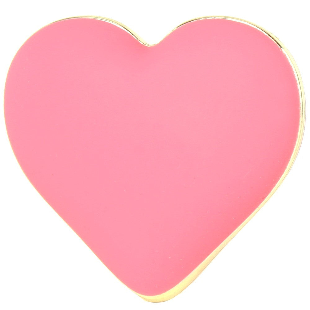 Rianne S Rechargeable Silicone Heart Vibe in Coral Rose