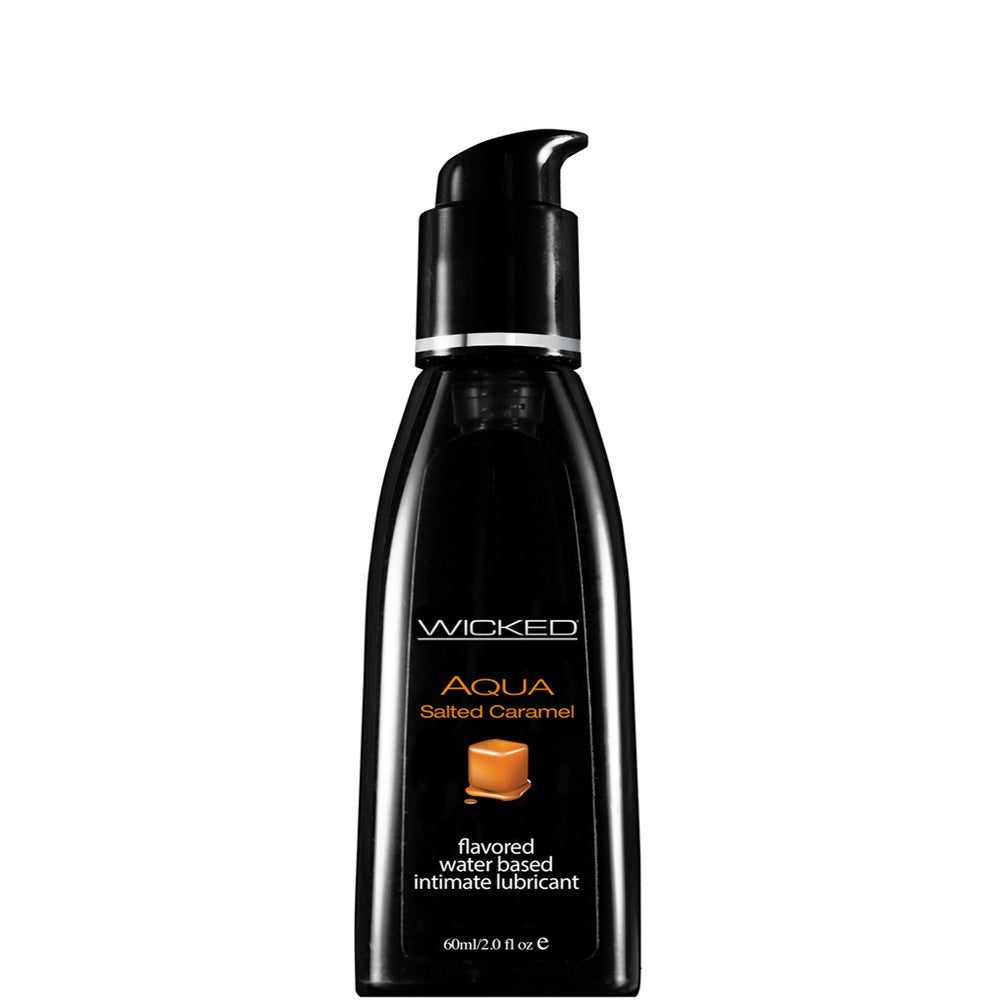 Aqua Salted Caramel Flavored Lube in 2oz/60ml