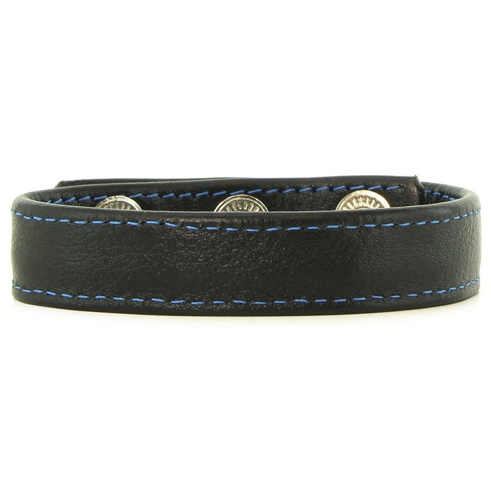 Blue Stitched Wrist Band with Inner Spikes