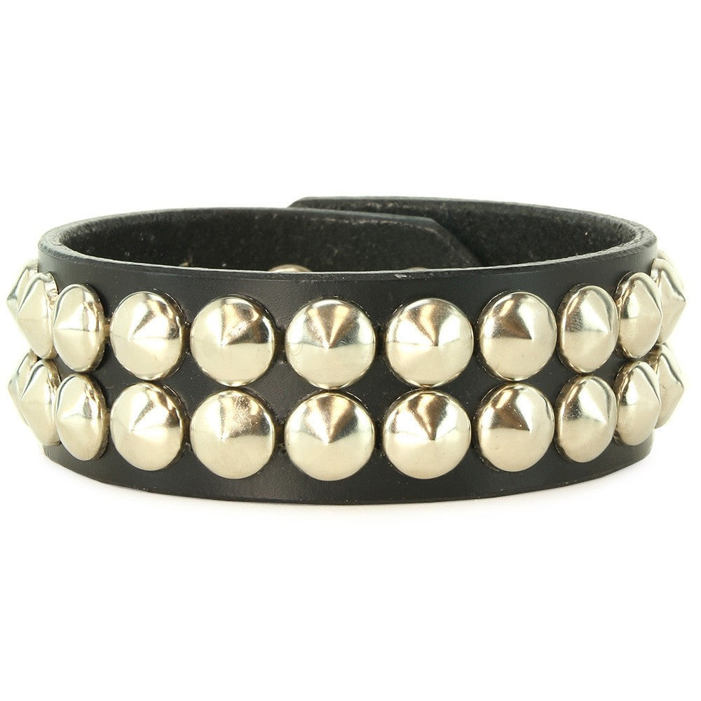 Double Cone Studded Wrist Band in M/L